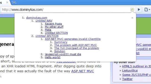 HTML5 Outliner tooltip UI