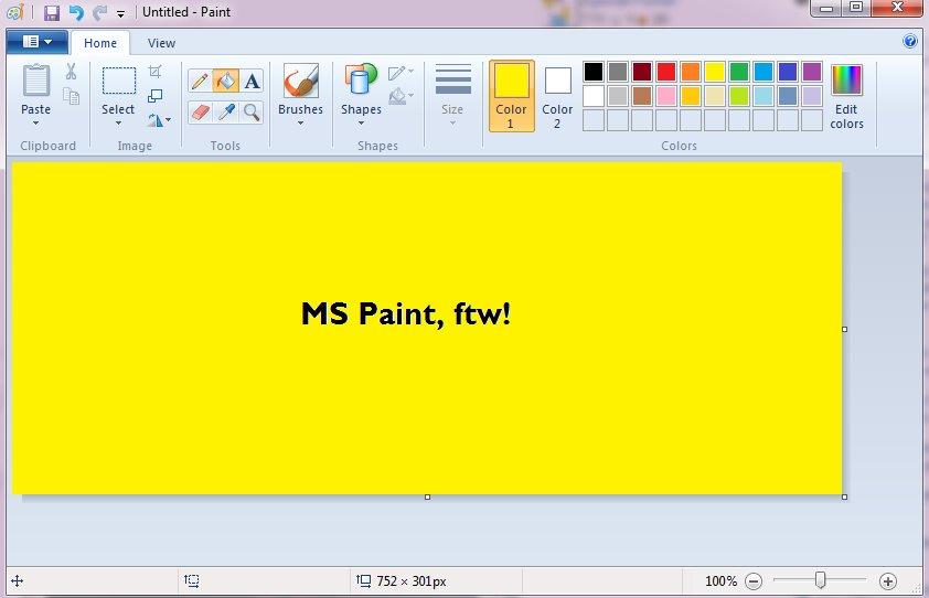 MS Paint UI