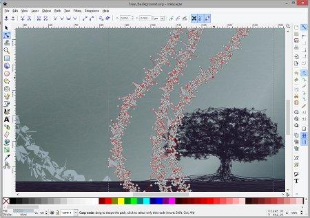 Screen capture of InkScape