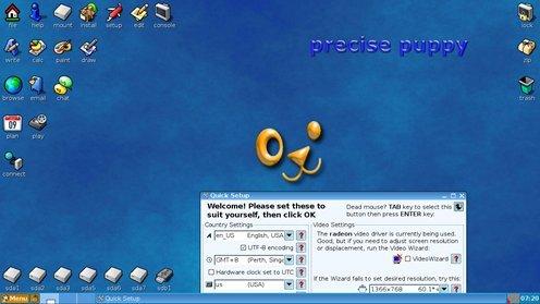 Puppy Linux Precise version screenshot found online