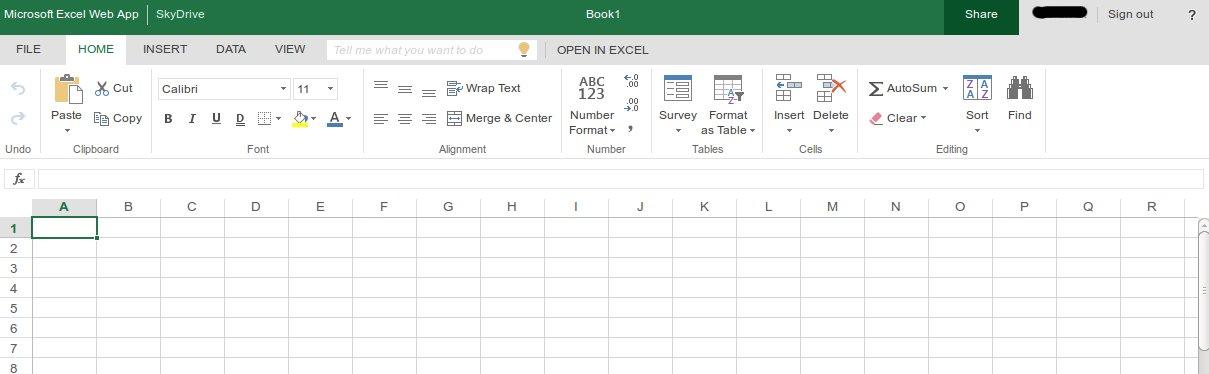 Web Excel